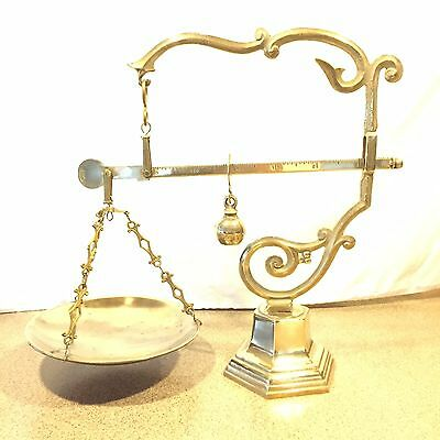Vintage Italey Brass Balance Scale