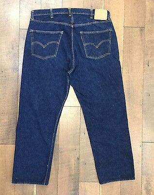 Vtg BIG E LEVIS 501XX Jeans Selvedge Edge Hidden Rivets Paper Tag Dark 40 x 29