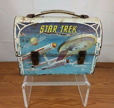 VTG 1968 Star Trek Metal Lunch Box Dome Paramount Pictures Aladdin Spock Kirk