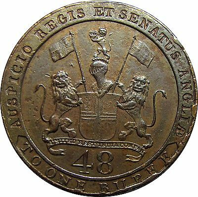 British East India Company 1/48 Rupee 1797 - Madras Presidency, Superb! KM-398