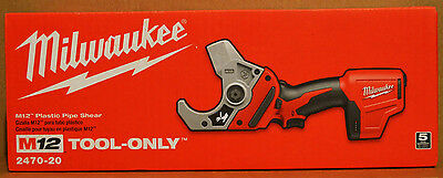 Brand New Milwaukee 2470-20 M12 12V Li-Ion Cordless VSR PVC Pipe Shear Cutter