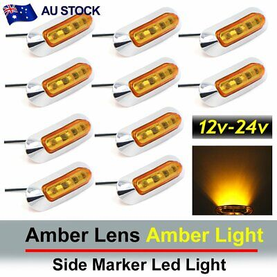10x Amber 4 SMD LED Side Marker Tail Light Clearance Lamp Truck Trailer AU Stock