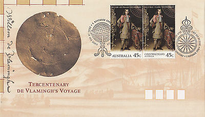 Australia 1996 Tercentenary De Vlamingh's Voyage FDC joint issue Christmas Is