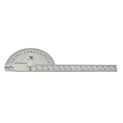 Stainless Steel Rotary Protractor Angle Ruler Gauge Machinist Measuring Tool 180