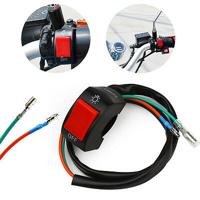 """1PC Moto Motorcycle Light Switch For 7/8"""" Handlebar With ON/OFF Button Connector"""
