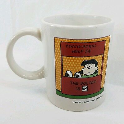 "Peanuts Lucy ""Psychiatric Help"" Coffee Tea Mug Cup by Innovative Design"