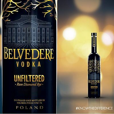 Belvedere Vodka Unfiltered Rare Diamond Rye 700Ml Premium