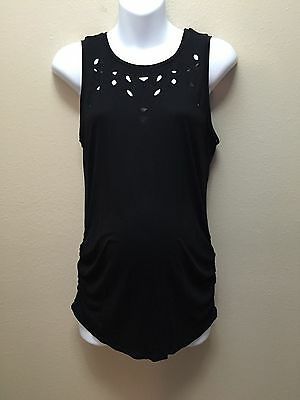 Old Navy  M  Top/Blouse Maternity Black Sleeveless Cut-out Nwt