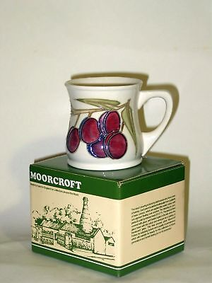 Boxed Moorcroft Plums Mug. Excellent, Firsts Quality