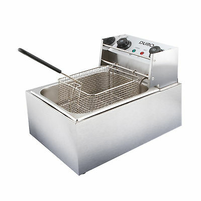 New 10L Single Duro Frying Basket Chip Deep Cooker Stainless Electric Deep Fryer