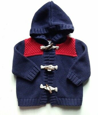 Paddington Bear For Baby Gap Toggle Sweater Jacket Hoodie Red/ Blue Size 12-18 M