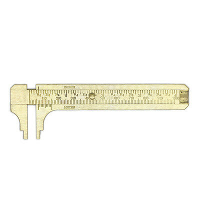 100mm Metal Double Scale Brass Gauge Vernier Caliper Ruler Pocket Measuring Tool