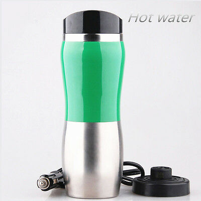 Portable Car 12V Stainless Steel Kettle Cup Warm Water 100° Hot Water Heater