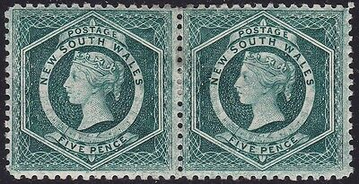 1885 NEW SOUTH WALES, SG 233d pair MLH/*