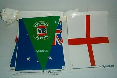 VB Victoria Bitter Beer new Australia vs England plastic party bunting flags