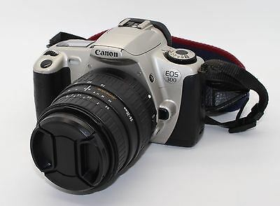 Canon EOS 300 35mm SLR Camera, 24-70mm Sigma Zoom Autofocus Lens, bag VGC/Tested