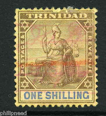 Trinidad 1904 1S Purple & Blue/golden Yellow Fiscally Used Sg 142 [Z917