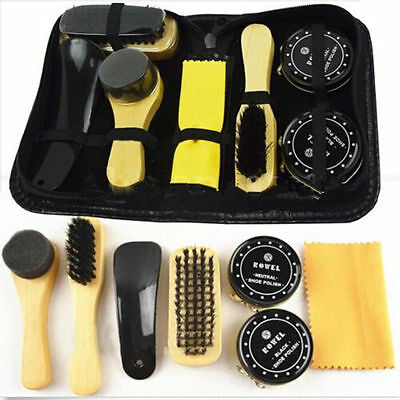 Shoe Cleaning Kit Leather  Neutral And  Black  Polishing brush Shoe Polish Bag