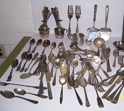 Over One Hundred Pieces of Unsearched Antiuqe Silverware