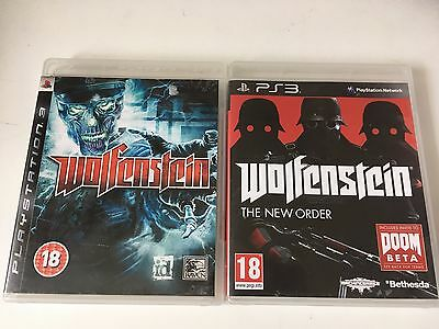 2 Games for  Sony PlayStation 3 PS3 - Wolfenstein & Wolfenstein New Order