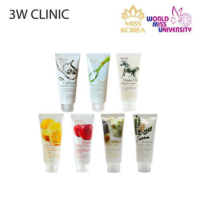 3W CLINIC Soft Moisturizing Skin Care Hand Cream 100ml 7 Opt. *Korean Cosmetics