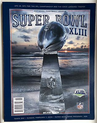 Super Bowl XLIII 43 NFL Pittsburgh Steelers vs Arizona Cardinals Program