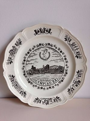 Vintage collectable commemorate plate Montreal Olympiad XXI Canada1976 Wedgewood