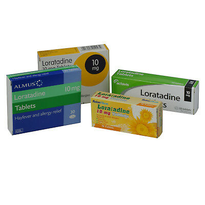 10mg Loratadine Hay fever, Pet, dust mite, Allergy Relief (2 x 30 = 60) Tablets