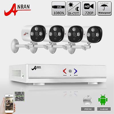 ANRAN 4CH 720P 1800TVL AHD CCTV Security Camera System Kit Outdoor HDMI IR Night