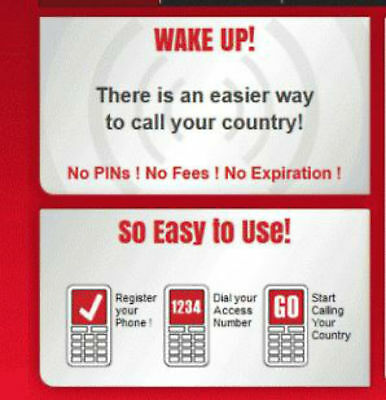 Boss Revolution Recharge International Long Distance Pinless Calling Service $5