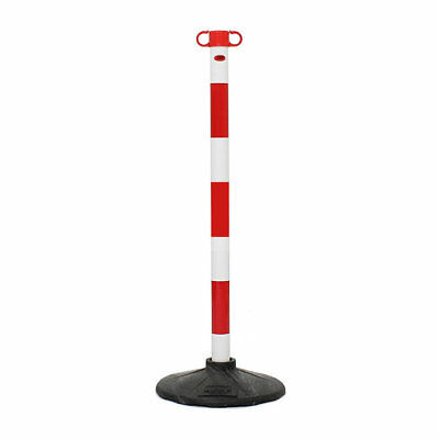 Red & White JSP Post & Base Safety Event Queue Barrier System for Plastic Chain