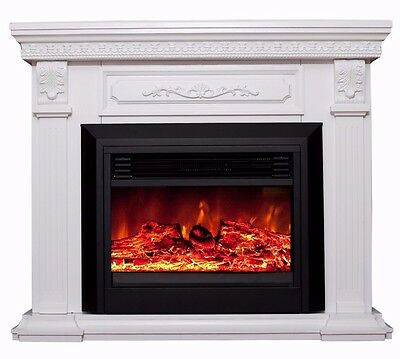 NEW 1950W Electric Fireplace Mantle Portable Fire Heater Realistic Flame Effect