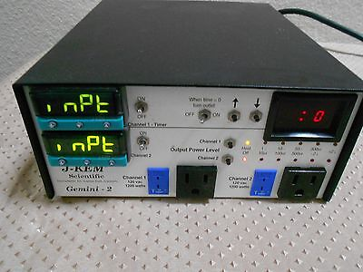 J-Kem Model GEMINI Dual Channel Temperature Controller w/ Digital Timer Nice