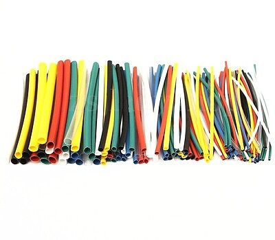 140Pcs NEW Car Electrical Cable Heat Shrink Tube Tubing For Wrap Sleeve Assorted