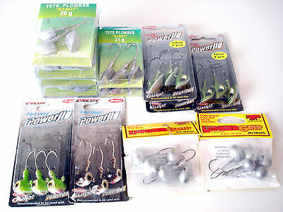 Lot 43 Tetes Plombees Sabot / Football Flashmer, Lunker, Berkley - Prix Bas !!!