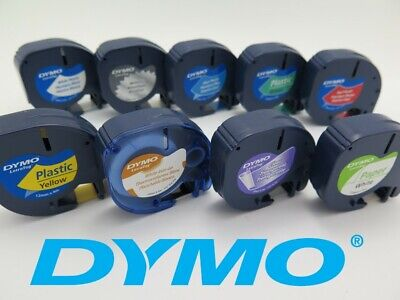 Genuine Dymo Letratag Label Tapes 12mm x 4M   AUSSIE STOCK