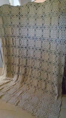 Superb Large  French  Handworked  Crochet   Panel