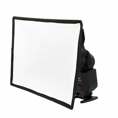 19 x 23cm SoftBox Luce Diffusore per Flash Speedlight Speedlite Portatile DC332