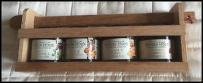 Wooden Spoon Jams & Marmalade Preserves (4) - With Stand & Wooden Spoon - New