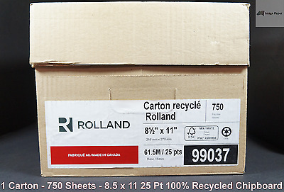 "8.5"" x 11"" 25PT Padding Chipboard 100% Recycled 750 Sheets per Carton Low Price"
