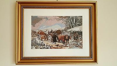 """""""WINTER"""" reproduction after Theodor Aman painter 34x23cm / 13.4"""" x 9.05"""""""