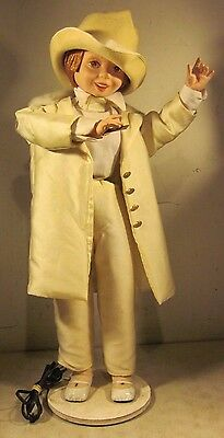 Vintage Electric Animatronic Girl Maestro Magician Conductor Moving Display Doll