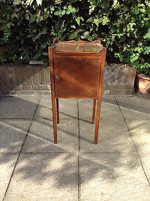 Antique Edwardian Bedside Cupboard with Carry Handles.Delivery Available.