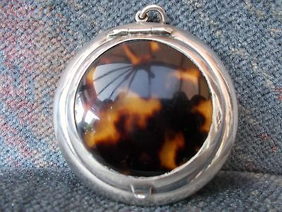 Antique Sterling Silver Faux Tortoiseshell 1923 Compact - Cohen & Charles London