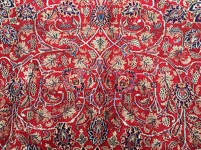 9x13 HAND KNOTTED PERSIAN RUG AREA WOVEN WOOL IRAN rugs 9 x 13 antique 10 12 red