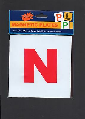 2 PC Magnetic N Plates newly qualified novice drivers easy attach