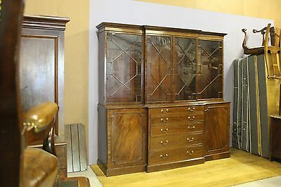 A George 111 Mahogany Four Door Secretaire Bookcase.