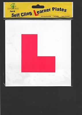 Self Adhesive L Learner Plates Reusable newly qualified learner drivers