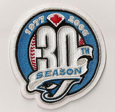 Toronto Blue Jays 30th Season Embroidered Collector's Patch 1977-2006 Beautiful!