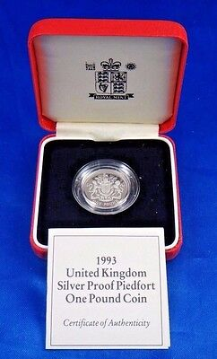 1994 United Kingdom Silver Proof Piedfort One Pound Coin Scottish Rampant Lion